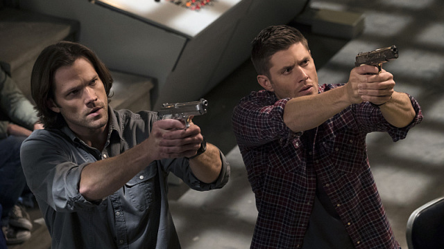 """Supernatural -- """"Alpha and Omega"""" -- SN1123a_0157.jpg -- Pictured (L-R): Jared Padalecki as Sam and Jensen Ackles as Dean-- Photo: Katie Yu/The CW -- © 2016 The CW Network, LLC. All Rights Reserved"""