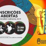 Marechal abre inscrições do concurso de Rei Momo e Rainha do Carnaval 2019