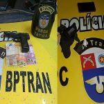 Militares do BPTran apreendem droga, simulacro e arma de fogo em Maceió