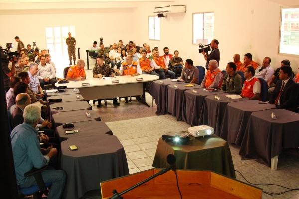 Reunião preparatória para o simulado, no último dia 4, ajustou detalhes para o treinamento (Gabriel Fireman)