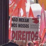 Manifestantes protestam contra Reforma da Previdência no RJ