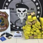 Casal é preso com 25kg de maconha após denuncia anônima