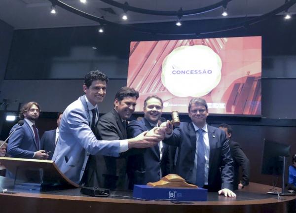 Renan Filho acompanhou nesta sexta-feira (15) o leilão realizado pelo Governo Federal na B3, em São Paulo (SP)