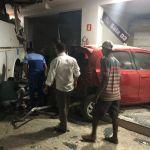 Ônibus invade posto de combustível e deixa quatro feridos em Arapiraca
