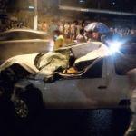Capotamento de veículo resulta em três pessoas feridas na Av. Durval de Góes Monteiro