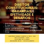Seminário Direitos Constitucionais: garantias, efetividade e desafios acontece no próximo dia 25