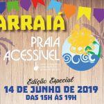 Projeto Praia Acessível ganha edição junina no dia 14