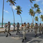 Via litorânea é interditada para treinamento do desfile de 7 de setembro