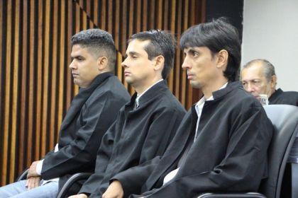 Thiago Ferro e Preto Boiadeiro (nos extremos) foram colocados em liberdade. Foto: Ascom MP/Arquivo