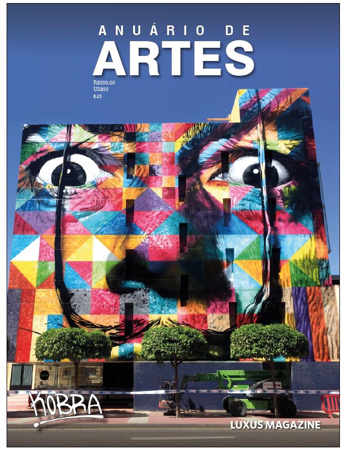 Capa do Anuário de Artes 2019 / Salvador Dali, obra assinada pelo Muralista Eduardo Kobra. Créditos: Luxus Magazine.