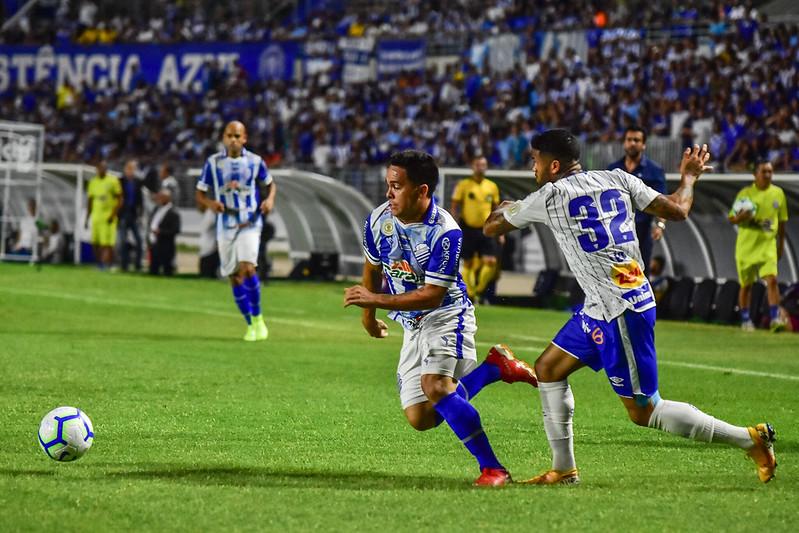 Maceió, AL, 06.10.2019 - Csa - Avaí – Lances da partida entre CSA X Avaí válida pela 23° rodada do Campeonato Brasileiro Serie A 2019, realizada no Estadio Rei Pelé, Maceió-AL, neste domingo (06).