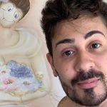 """Carlinhos Maia vandaliza pintura e é detonado: """"Hotel permitiu"""""""