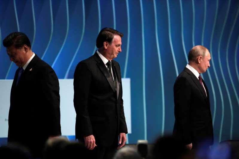 Reuters/UESLEI MARCELINO Bolsonaro, Xi e Putin em Fórum Empresarial dos Brics em Brasília