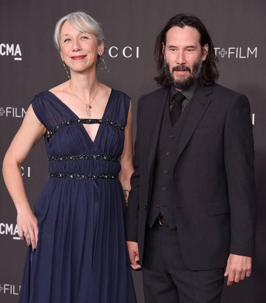 Keanu Reeves e Alexandra Grant chegando ao LACMA Art + Film Gala 2019, em Los Angeles (Gregg DeGuire/FilmMagic/Getty Images)