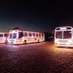 Ônibus do SIMM recebem, nesta quarta, decoração natalina