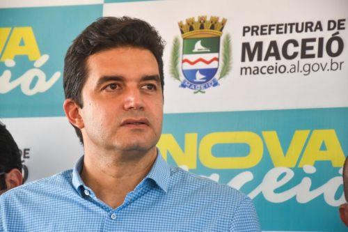 Rui Palmeira, prefeito de Maceió. Foto: Marco Antônio/ Secom Maceió