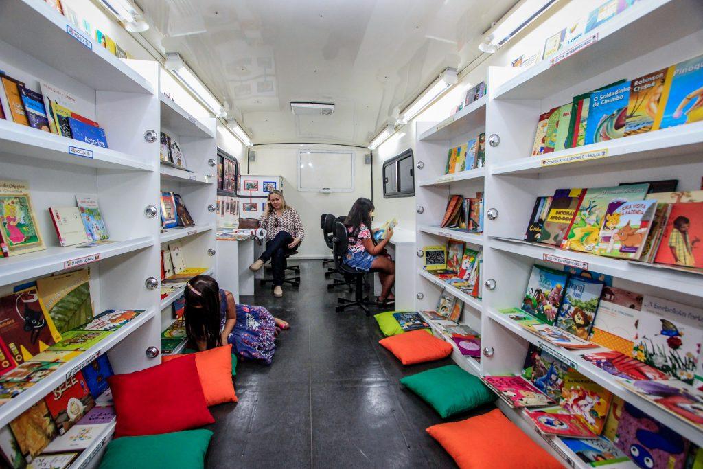 A Biblioteca Volante Estação Saber está sempre presentes em eventos culturais. Foto: Arquivo Secom