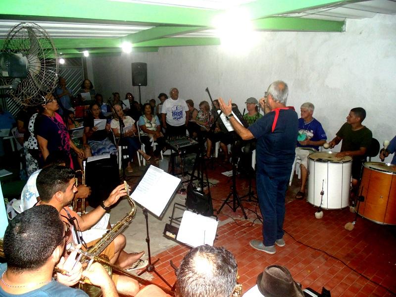 Seresteiros nos últimos ensaios para o Baile. Fotos; João Lemos.