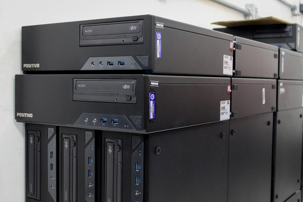 Cerca de 200 computadores devem ser distribuídos em 2020 nas escolas. Foto: Ascom/Semed