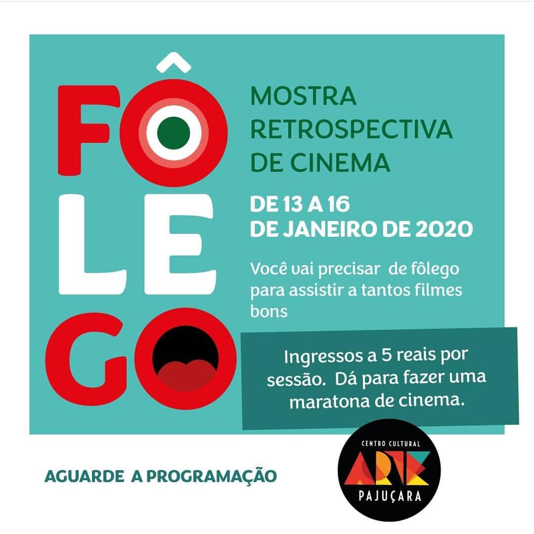 """Cartaz de divulgação da Mostra retrospectiva """"Fôlego"""", criada pelo Centro Cultural Arte Pajuçara. / Reprodução: Instagram"""