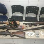 Polícia apreende seis armas de fogo, 44 pedras de crack e maconha no Vergel
