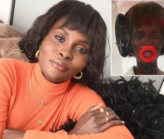 Modelo negra se recusa a usar orelhas e lábios considerados racistas em desfile nos EUA