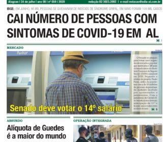 CAI NÚMERO DE PESSOAS COM SINTOMAS DE COVID-19 EM AL