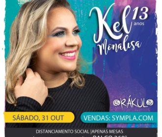 Kel Monalisa comemora 13 anos de carreira com show especial