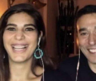 Andréia Sadi e André Rizek serão pais de gêmeos