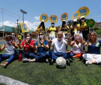 Alfredo Gaspar percorre bairros e destaca importância de espaços para prática de esporte e lazer