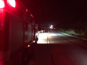 Acidente entre carro e moto deixa jovem morto na BR-316