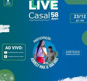 Casal promove live para celebrar os 58 anos da empresa