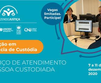 Formação em Audiências de Custódia pelo CNJ