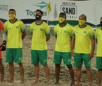 Seleção brasileira pega Tunísia no Mundial de Futebol de Areia Raiz