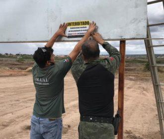 Loteamento em Arapiraca é embargado por construção em Área de Preservação Permanente