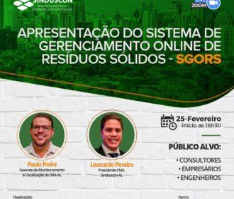 Comissão de Meio Ambiente do Sinduscon-AL realiza live para apresentar o SGORS