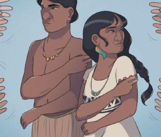 História em quadrinhos retrata língua indígena de sinais