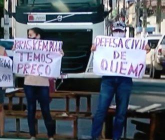 Moradores de Bebedouro protestam contra impactos trazidos pela Braskem