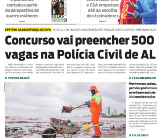 Concurso vai preencher 500 vagas na Polícia Civil de AL