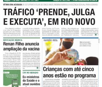 TRÁFICO 'PRENDE, JULGA E EXECUTA', EM RIO NOVO