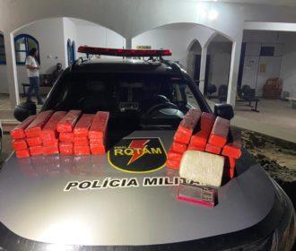 PM apreende aproximadamente 33kg de maconha e quase 1kg de cocaína em Arapiraca