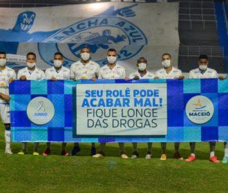 Clubes do futebol alagoano reforçam campanha de Prevenção às Drogas em Maceió