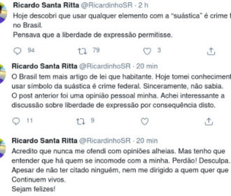 Secretário do turismo de Maceió critica lei federal que proíbe o uso de símbolos nazistas