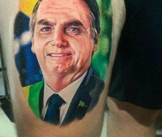Em Arapiraca: Homem tatua rosto de Bolsonaro na coxa e viraliza nas redes sociais