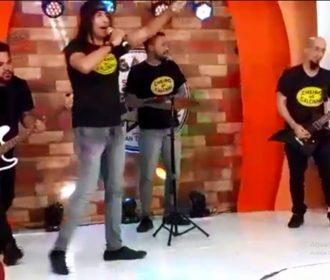 Lobão e Cheiro de Calcinha fazem show na orla de Jacarecica e participa de live de Lucimara Parisi