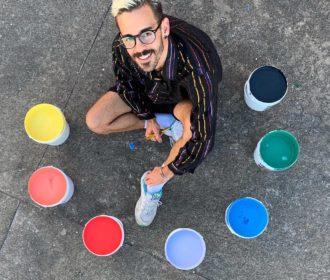 Artista alagoano realiza intervenção artística em parceria com Fábrica Ibratin