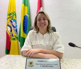 Thais Canuto faz balanço dos primeiros seis meses de mandato como vereadora por Pilar