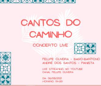 Baixo-Barítono alagoano Fellipe Oliveira junto ao Maestro e Pianista André dos Santos anunciam o concerto 'Cantos do Caminho' para a próxima sexta (6)