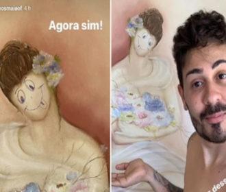 Carlinhos Maia é condenado pela Justiça e deve pagar R$ 30 mil por rabiscar quadro em hotel de Aracaju