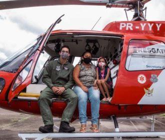 Médico do Samu Aeromédico reencontra criança que socorreu há três meses
